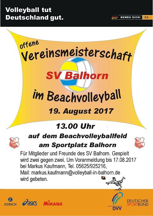 Vereinsmeisterschaft Beachvolleyball