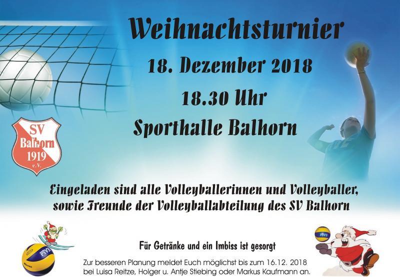 Weihnachtsturnier Abt. Volleyball