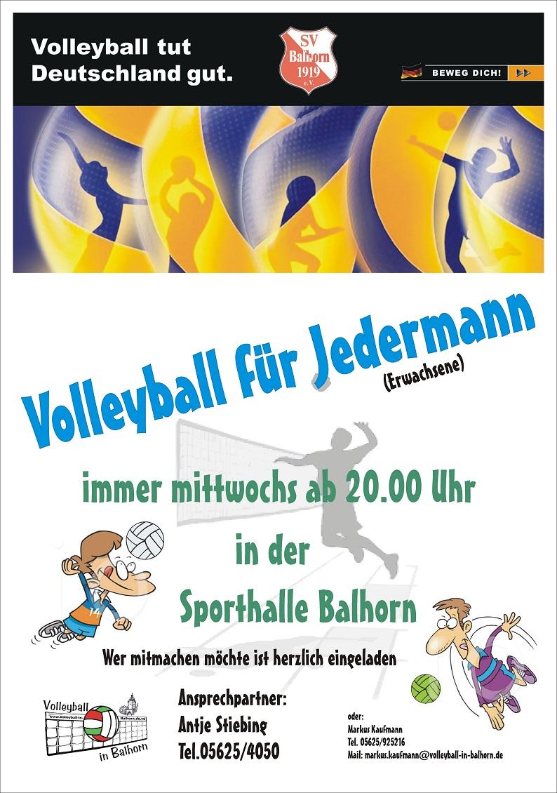 Volleyball für Jedermann